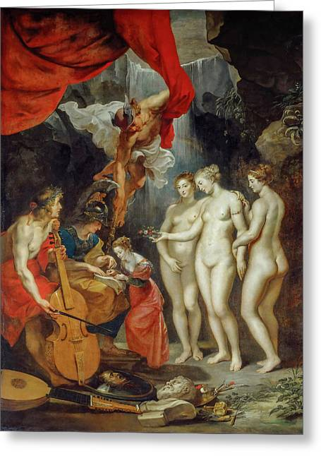 Education Of The Princess Greeting Card by Peter Paul Rubens