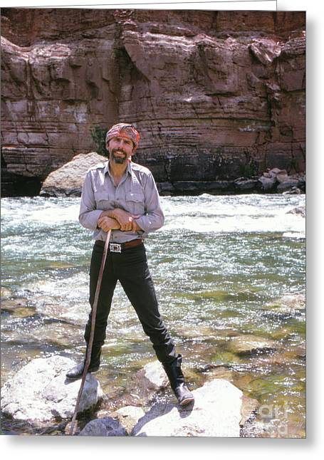 Edward Abbey, Author Of Desert Solitaire, Shown Here By The Colo Greeting Card
