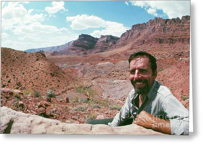 Edward Abbey In The Desert, 1969 Greeting Card