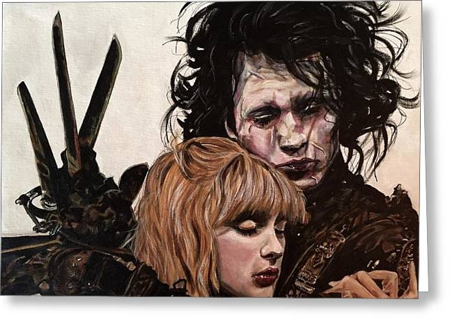 Greeting Card featuring the painting Edward And Kim by Joel Tesch