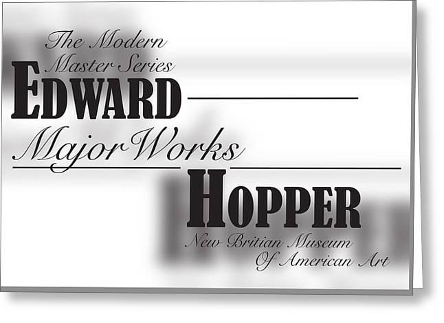 Edward Hopper, Bernard Mt  Greeting Card by Leon Gorani