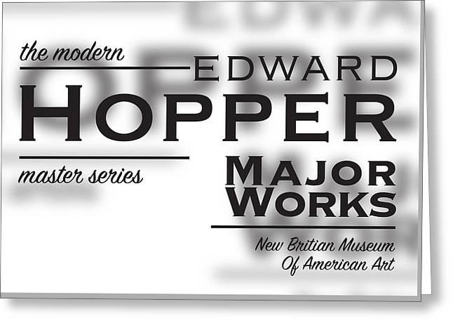 Edward Hopper, Copperplate Greeting Card by Leon Gorani