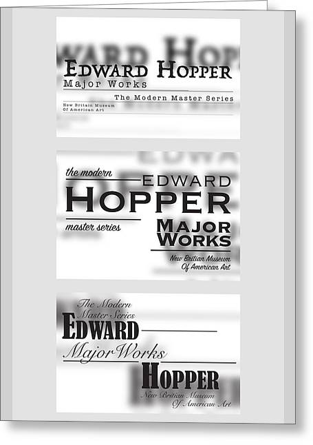 Edward Hopper Series  Greeting Card by Leon Gorani