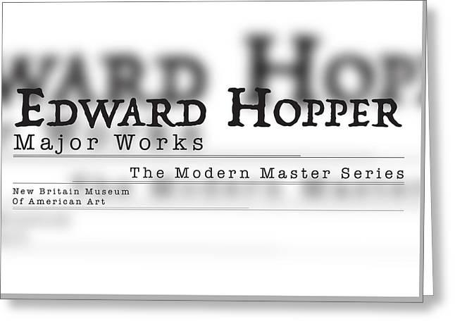 Edward Hopper, Trattatello Greeting Card by Leon Gorani