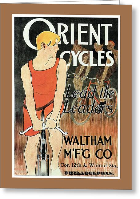 Edward Penfield Orient Cycles Greeting Card