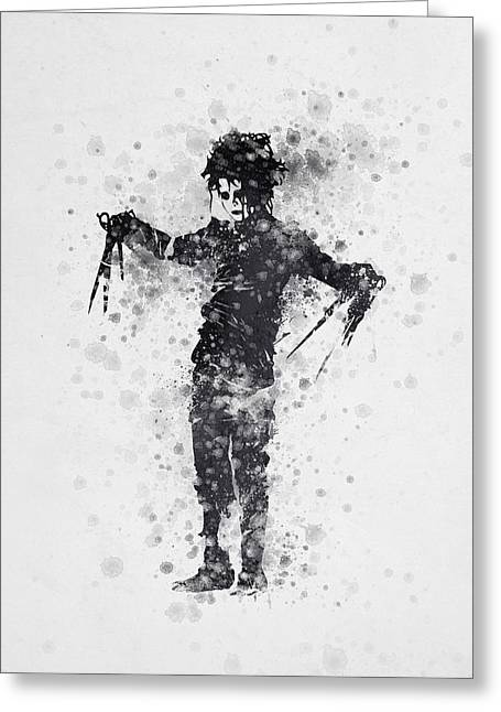Edward Scissorhands 01 Greeting Card by Aged Pixel