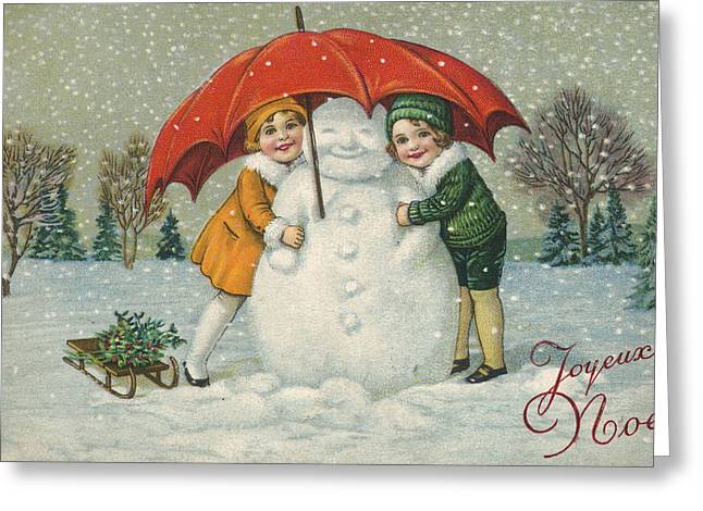 Edwardian Christmas Card Greeting Card