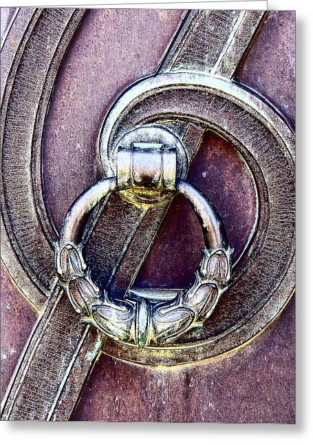 Denver Artist Greeting Cards - Edwardian Era Door Handle Greeting Card by Catherine Fenner