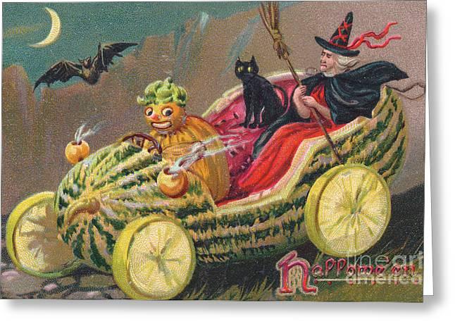 Edwardian Halloween Card Greeting Card