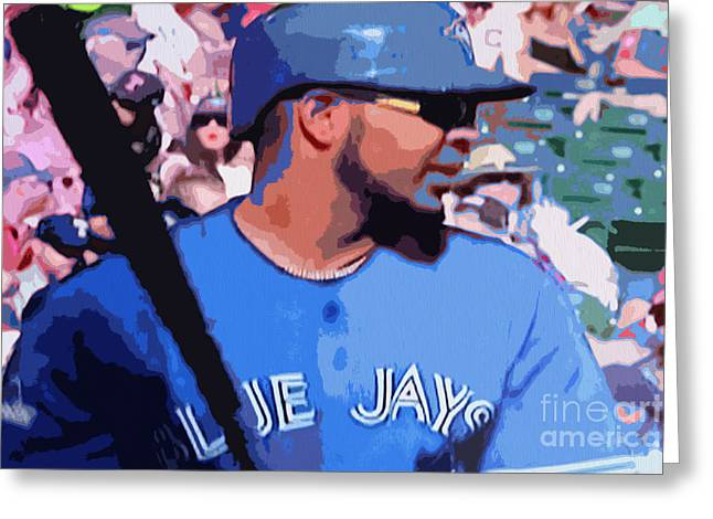 Edwin Encarnacion Greeting Card by Nina Silver