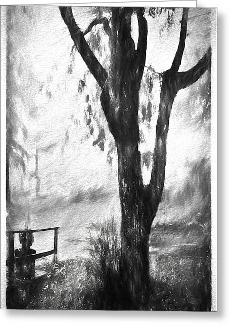 Tree In The Mist Greeting Card
