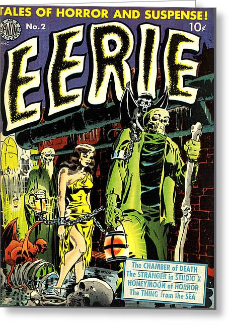 Eerie Comic Book Cover Restored Greeting Card by Halloween Dreams