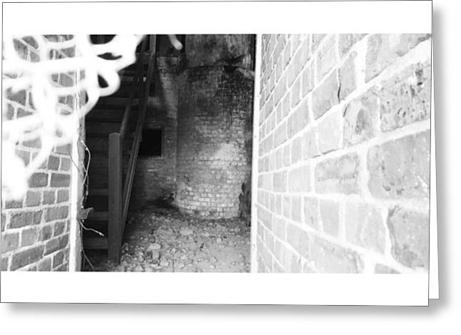 Eerie Look Inside The Martello Tower At Greeting Card by Natalie Anne