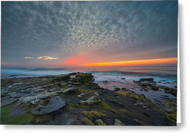 Eerie Sunset La Jolla Cove San Diego Greeting Card