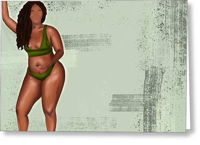 Greeting Card featuring the digital art Eff Your Beauty Standards by Bria Elyce