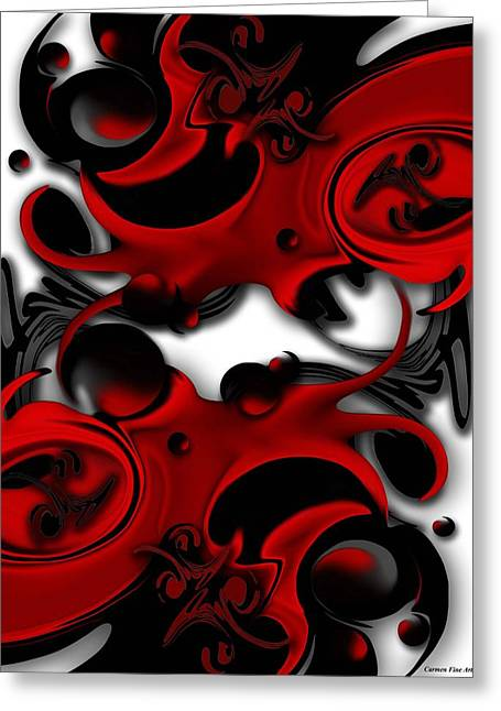 Greeting Card featuring the digital art Effective Form Constructed by Carmen Fine Art
