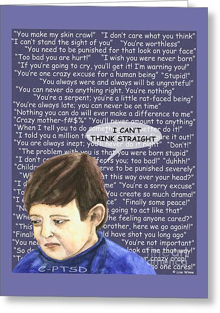 Effects Of Verbal Abuse Greeting Card