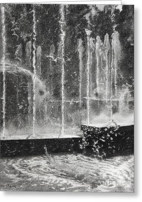 Effervescence Fountain In Milano Italy Greeting Card by Kelly Borsheim