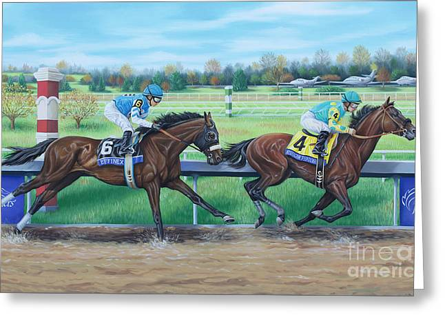 Effinex Verses American Pharoah Greeting Card