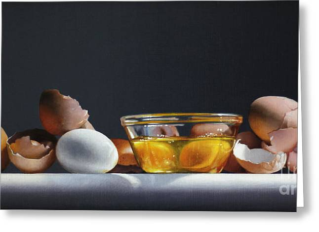 Egg And Shells #12 Greeting Card by Larry Preston