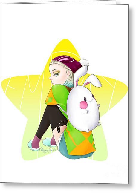 Egg Bunny  Greeting Card