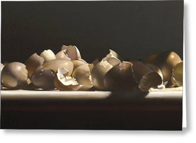Egg With Shells No.3 Greeting Card by Larry Preston