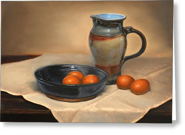 Eggs And Pitcher Greeting Card