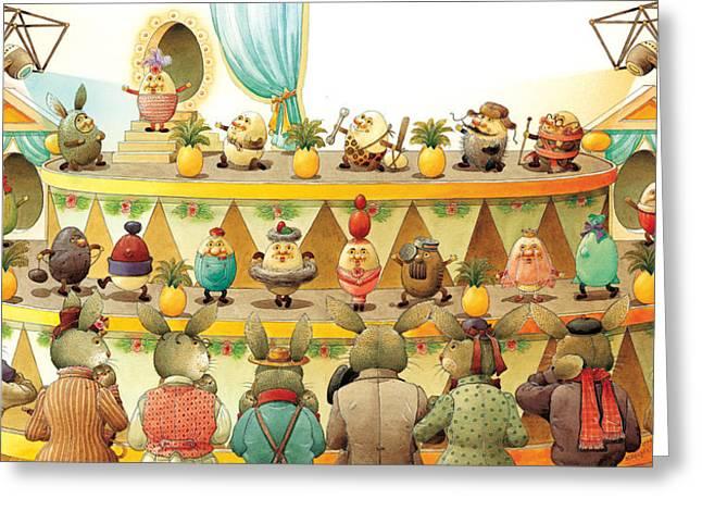 Eggs Fashion Greeting Card by Kestutis Kasparavicius