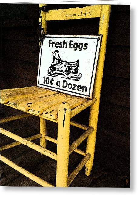 Eggs For Sale Greeting Card by Lori Mellen-Pagliaro