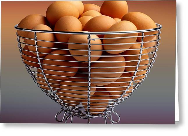 Eggs In Wire Basket  Greeting Card by Movie Poster Prints