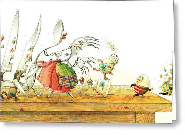Eggs Liberty Greeting Card by Kestutis Kasparavicius