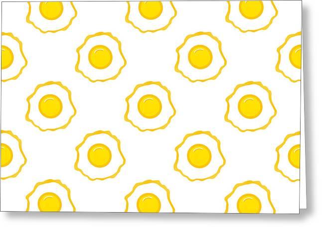 Eggs Pattern Greeting Card