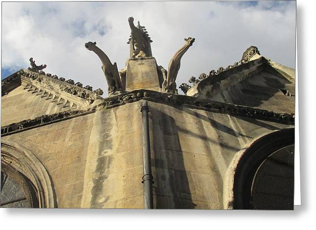 Greeting Card featuring the photograph Eglise Saint-severin, Paris by Christopher Kirby