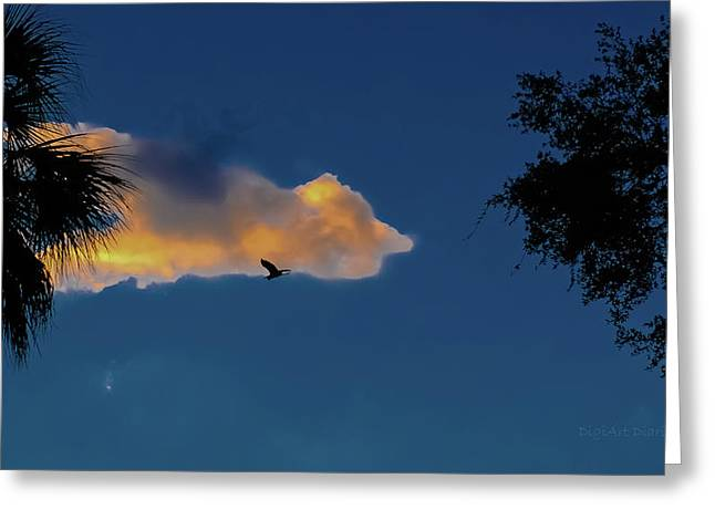 Egressing Egret Greeting Card by DigiArt Diaries by Vicky B Fuller