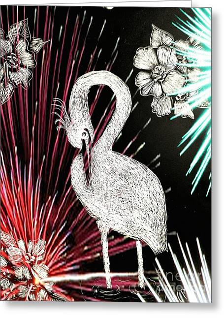 Egret 16-02d Greeting Card by Maria Urso