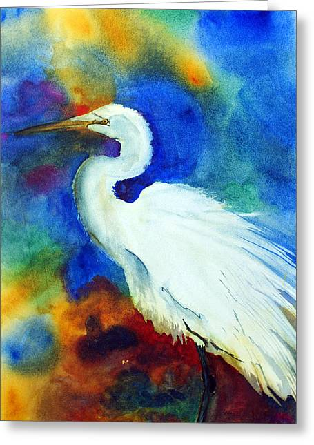Egret 3 Greeting Card by Tina Storey