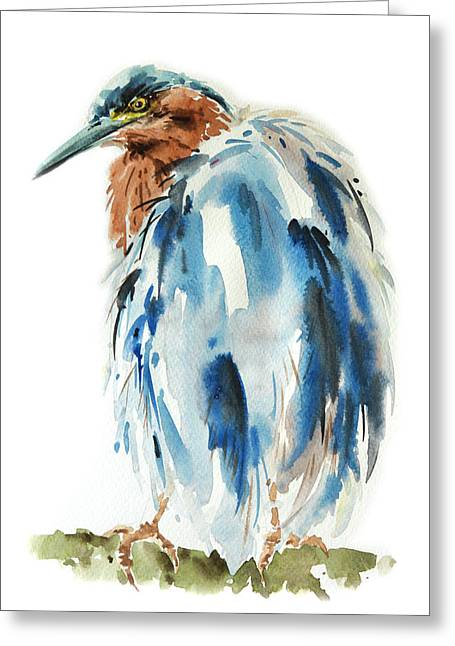 Egret Bird Painting Greeting Card
