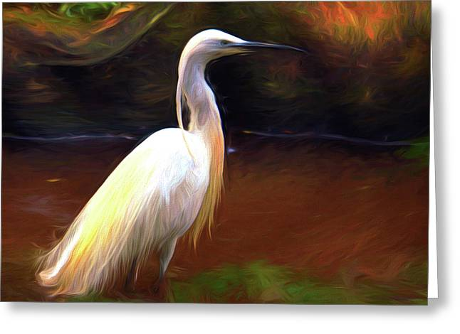 Egret Painting Greeting Card