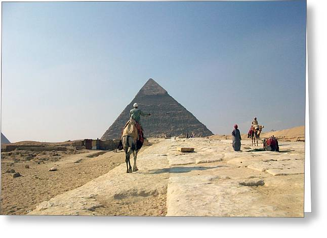 Egypt - Pyramid3 Greeting Card by Munir Alawi