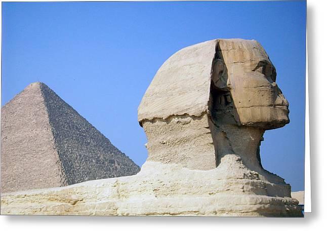 Egypt - Pyramids Abu Alhaul Greeting Card by Munir Alawi