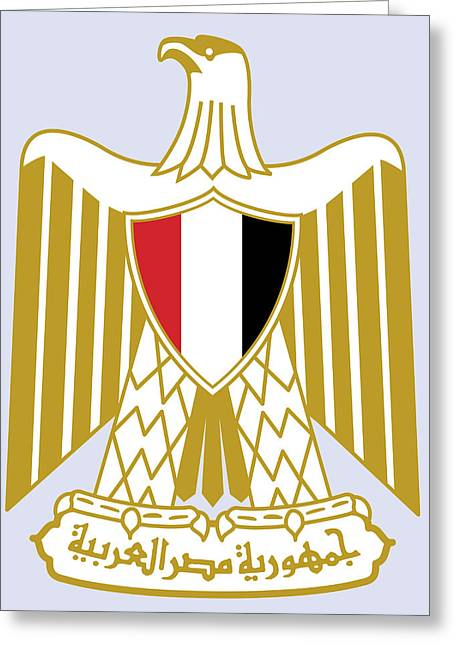 Greeting Card featuring the drawing Egypt Coat Of Arms by Movie Poster Prints