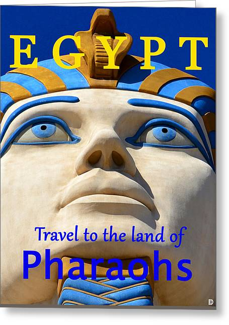Egypt Travel Poster  Greeting Card by David Lee Thompson