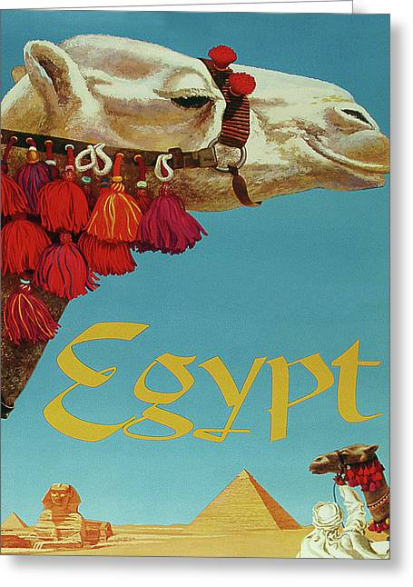 Egypt Travel Poster Greeting Card by Long Shot