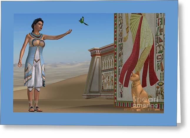 Egyptian Amunet Greeting Card by Corey Ford