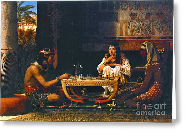 Egyptian Chess Players 1865 Greeting Card