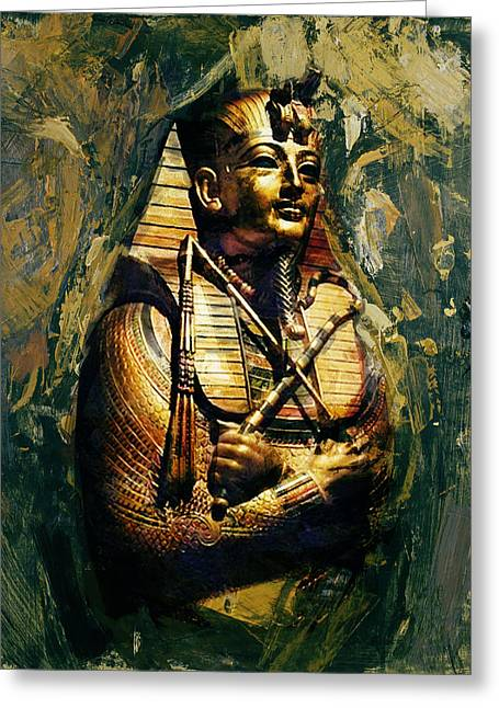 Egyptian Culture 3b Greeting Card by Maryam Mughal