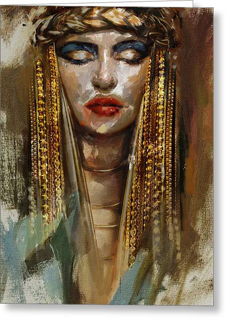 Egyptian Culture 4b Greeting Card by Mahnoor Shah