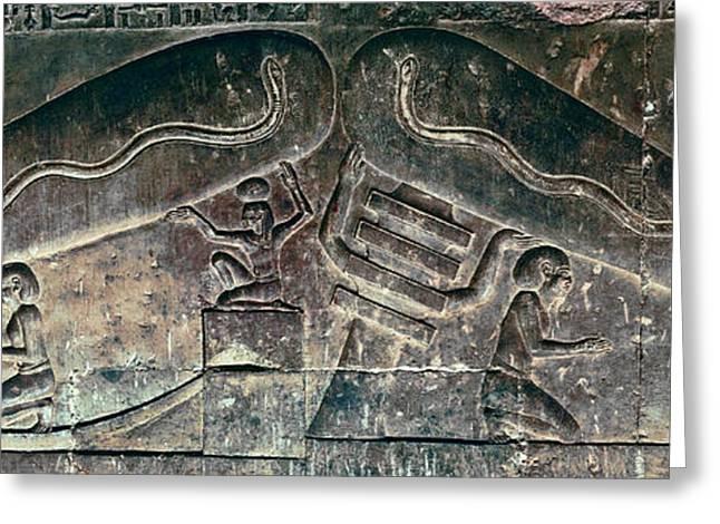 Egyptian Dendera Lightbulbs Sculpture Greeting Card by Daniel Hagerman