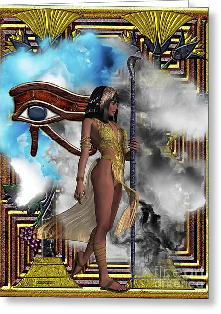 Egyptian Echoes Of Time Greeting Card by Corey Ford