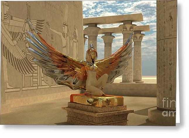 Egyptian God Isis Greeting Card